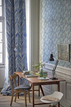 A striking geometric silk weave with a structured relief pattern, a stunning fabric for curtains, blinds, bedcovers or cushions. Decor, Front Room, Traditional Decor, Interior, Interior Inspiration, Designers Guild Wallpaper, Designers Guild, Interior Design, Geometric Carpet