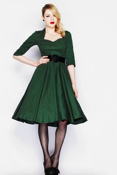 Robe Pin-Up Rockabilly 50's Rétro Pois Momo - Robe - Vetements Femme - Tous nos Produits