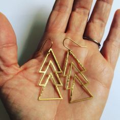 All the triangles. All the time please 🔺🔻🔺🔻 Symbols Of Strength, Triangle Design, Art Deco Earrings, Geometric Jewelry, Design Process, Geometric Shapes, Gypsy, Delicate, Feminine