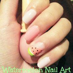 Nail Art How-to: Watermelon Nail Art