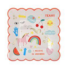 Little Boo-Teek - Meri Meri Unicorn Party Plates   Shop Designer Party Supplies   Party Shop Online