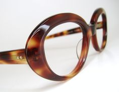 Vintage 60s Red Tortoise Cat Eye Eyeglasses