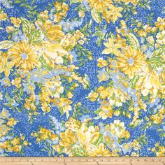 April Cornell Glorious Garden In Full Bloom Provence from @fabricdotcom  Designed by April Cornell for Free Spirit, this fabric is perfect for quilting, apparel and home decor accents. Colors include white, yellow and shades of blue.