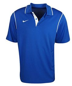 Nike Mens Gungho Short Sleeve Training Polo Shirt Blue XLarge *** Check out this great product.