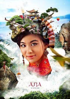 Asia by Pieter Vonk, via Behance