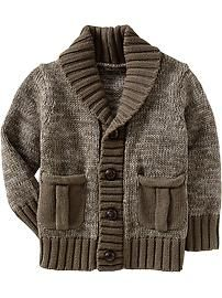 Shawl-Collar Cardigans for Baby