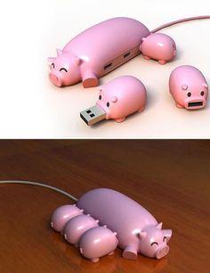 pig flash drives, so adorable