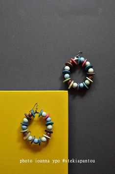 hoop earrings with beads and buttons large colorful summer  #stekiapantou #ioannaypo #thessaloniki #hoopearrings #buttonsearrings #buttonsjewelry #beadsearrings #bohoearrings #bohemianearrings #summerearrings #statementearrings #statementjewelry #greekdesigner #madeingreece