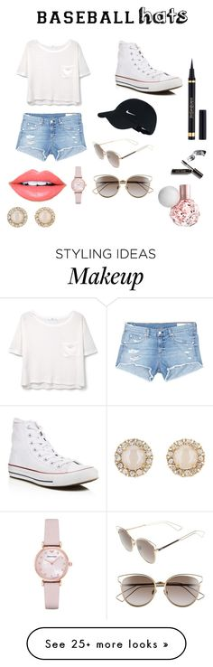 """""""Baseball hat"""" by slord1 on Polyvore featuring MANGO, rag & bone/JEAN, Converse, NIKE, Christian Dior, Fiebiger, Yves Saint Laurent, Bobbi Brown Cosmetics, Emporio Armani and Kate Spade"""