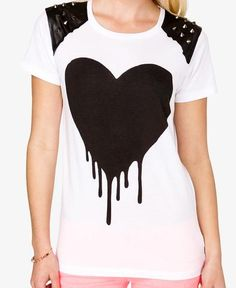 Spiked Heart Graphic Tee