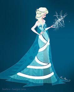 "Let it Go! by PoetDeTristesse.deviantart.com on @deviantART - Alternate design for Elsa from ""Frozen"""
