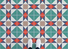 Colourful Tile Effect Vinyl Flooring, leading Vinyl Flooring designed and manufactured by Atrafloor. Bring any design to life as Flooring. Tile Effect Vinyl Flooring, Floor Texture, Higher Design, Floor Design, Color Schemes, Concept, Stone, Interior Design, Inspiration