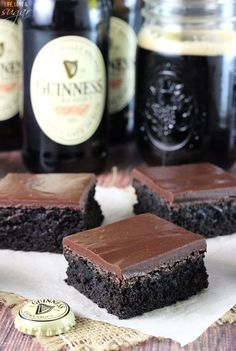 Guinness Chocolate Brownies saint patricks, st. patty