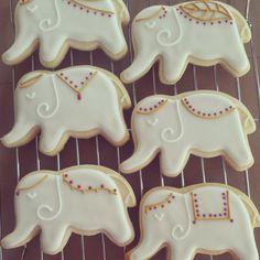 Elephant sugar cookies(6). Etsy.com