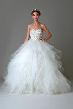 Wedding gown by Marchesa