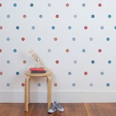 Our super fun little polka dot wall stickers are a perfect way to add a bit of colour and detail to your child's bedroom or nursery in a nice subtle way. Polka Dot Bedroom, Polka Dot Walls, Polka Dots, Boys Wall Stickers, Wall Decor Stickers, Cleaning Walls, Baby Room Decor, House Colors, Kids Bedroom