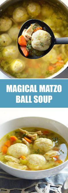 me: Warm & Cozy Matzo Ball Soup Passover Recipes, Jewish Recipes, Passover Meal, Soup Recipes, Cooking Recipes, Healthy Recipes, Healthy Food, Healthy Donuts, Healthy Chicken