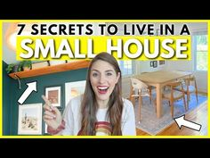 CLEVER SMALL HOUSE TIPS 🏠 My Best Secrets To Thriving in a Small Home as a Family of 4 - YouTube My Best Secret, Family Of Four, Small Rooms, Storage Solutions, Interior Styling, Clever, Organizing, Organization, The Creator