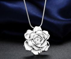 lady cute Silver Plated Flower Fashion charms pendant women Necklace Jewelry #Unbranded #Charm