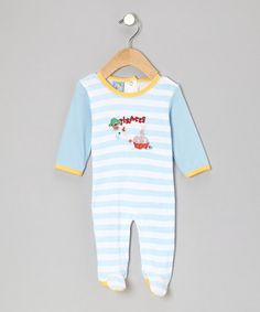 Take a look at this Blue Stripe 'Pirates' Footie - Infant by Sweet & Soft on #zulily today!