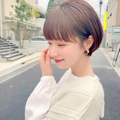 Japanese Short Hair, Korean Hair Color, Shot Hair Styles, Cute Haircuts, Corte Y Color, Short Bob Hairstyles, Hair Dos, Hair Inspo, Short Hair Cuts