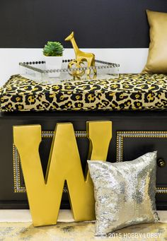 Make your home shine bright this summer with our luxe-looking fabrics! Add silver and gold rivets to furniture for the final sparky touch.