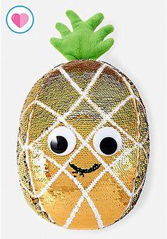 Pineapple Flip Sequin Pillow