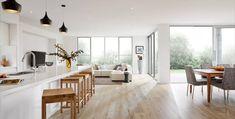 Carter Grange Homes - Melbourne Home Design and Living Open Plan Kitchen, New Kitchen, Melbourne House, Scandinavian Kitchen, Scandinavian Style, Home Renovation, Living Area, Living Rooms, Interior Inspiration