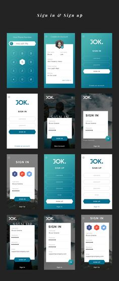 JOK mobile UI KIT is a stylish, clean and huge UI Kit made to help with your designing or prototyping process. Each screen is fully customizable, easy to use and handcrafted with love i...