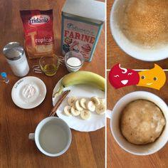 #Torta alla banana in tazza: una #ricetta facile e veloce per la tua #colazione