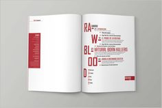 RAW - MAGAZINE on Editorial Design Served