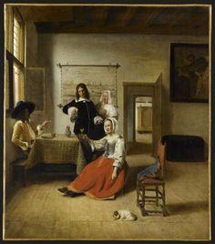 Pieter de Hooch - La Buveuse. Musée du Louvre, Paris