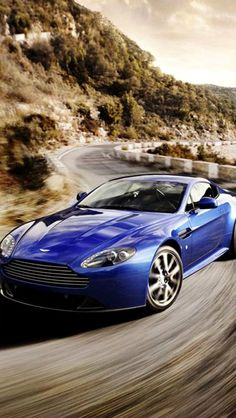 aston martin, blue, flying spur, Cars