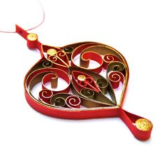 Christmas decoration - eco-friendly, quilled paper.