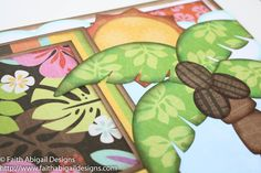 Today, I'm sharing a two-page tropical-themed layout. My husband and I visited a beach in Mexico last year that was surrounded by several s...
