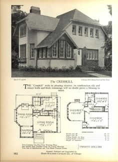 The CRESSKILL   Home Builders Catalog: Plans Of All Types Of Small Homes By  Home