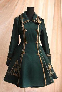 Pin on ロリータファッション Steampunk Clothing, Steampunk Fashion, Steampunk Coat, Steampunk Glasses, Old Fashion Dresses, Fashion Outfits, Dress Fashion, Mode Lolita, Lolita Style