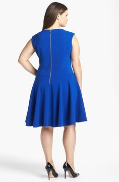 Free shipping and returns on Eliza J Double Knit Crepe Fit & Flare Dress (Plus Size) at Nordstrom.com. Strategic seams emphasize the classic silhouette of a minimally styled stretch-crepe dress finished with a full A-line skirt.