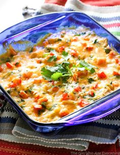Salsa Verde Enchiladas - a fresh and easy casserole that freezes great. And gluten-free! the-girl-who-ate-everything.com