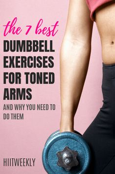 here we check out the 7 best arm exercises with dumbbells to get sexy toned arms. tonedarms # dumbbellexercises here we check out the 7 best arm exercises with dumbbells to get sexy toned arms. Best Dumbbell Exercises, Dumbbell Arm Workout, Arm Exercises, Boxing Workout, Weight Training Workouts, Fun Workouts, At Home Workouts, Extreme Workouts, Circuit Training