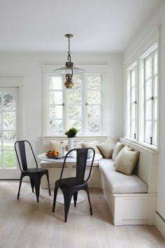 Savor Home: Inspired By...  Love bench seating in the breakfast room!