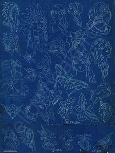 Percy Waters Blueprint Poster - Print #3 – Yellow Beak Press - Tattoo History Books, Prints, & Apparel