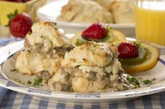 Homemade Biscuits and Gravy | mrfood.com