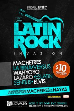 The Latin Rock Invasion @ The Howard!