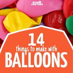 14 דברים מדהימים לעשות עם בלונים - אתה תאהב בלון קל אלה ומלאכות הם עבור כל הרמות המיומנות וגיל!  אתה תמצא אמנות לילדים, בני נוער, ומבוגרים עם רעיונות קלים לשנות את הייעוד של…