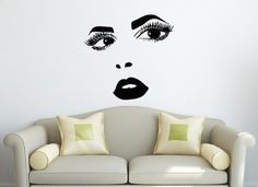 Wall Vinyl Decal Sticker Art Design Face of Perfect Woman Beauty Saloon Room Nice Picture Decor Hall Wall Chu1193 Thumbs up decals,http://www.amazon.com/dp/B00K96QA22/ref=cm_sw_r_pi_dp_D2AHtb0W6Z6AHPT4
