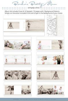 INSTANT DOWNLOAD Boudoir Beauty 10x10 Album by SavantDesign