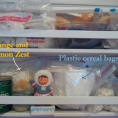 Money saving food tips and information about freezing food.