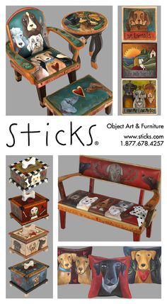 Fall in puppy love with Sticks dog products and accessories. You can personalize your favorite product with a name and image in celebration of your loving pet. Items available for purchase and custom order at www.Sticks.com or call us at 1.877.678.4257