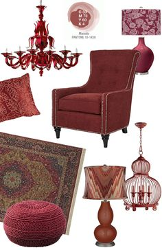 2015 Pantone Color of the Year - Marsala - at Lamps Plus